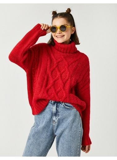 Koton Materiel: %80 Akrilik, %20 Polyester,Beam:1,Height:175,Waist:58,Breast:76,Gender:Kadın Kırmızı